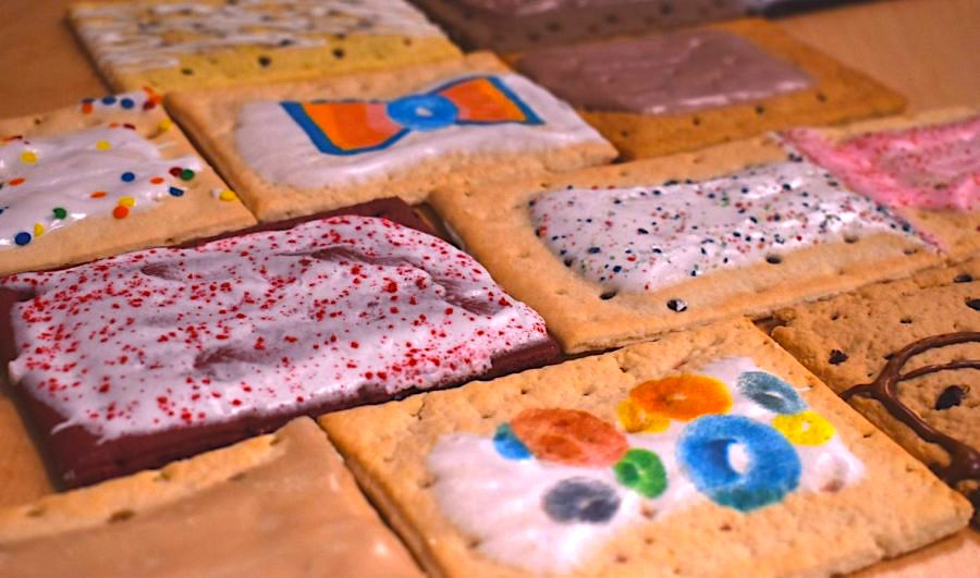 An assortment of Pop-Tarts, from Froot Loop flavored to red velvet.