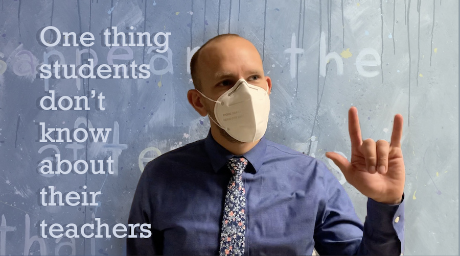 """Music teacher Brian Parrish (pictured) and several other staff members answer the question, """"What is one thing your students might not know about you?"""""""