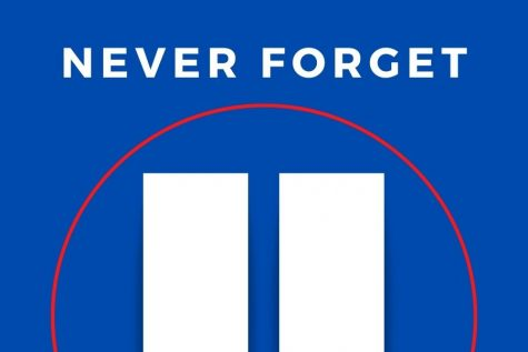 Illustration representing the Twin Towers and the unity in the aftermath.