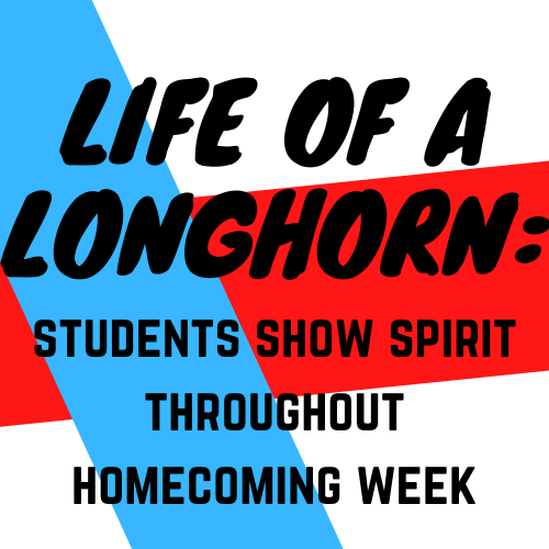 During homecoming spirit week, students dress up for the different themes of the week to show school spirit.
