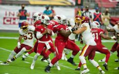 WFT LB Jon Bostic turns corner for sack on Cardinals QB Kyler Murray by All-Pro Reels. Photo used under Creative Commons Licenses.