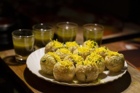 Pani puri can be more filling to eat than you think. The filling, though light, is packed with nutritional veggies and garnishes.