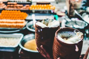 Lassi, a combination of yogurt, water, spices and sometimes fruit is made in under one minute by street vendors in India.