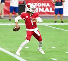 Arizona Cardinals quarterback Kyler Murray winds up to make a pass down field. Photo by Joe Glorioso (All Pro Reels) Attribution-ShareAlike 4.0 International (CC BY-SA 4.0). Photo used under Creative Commons Licenses.