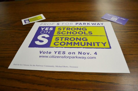 Proposition S is certainly receiving its fair share of publicity with fliers, business cards, stickers, and more.