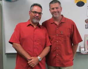 Unplanned, Social Studies teachers Melvin Trotier and Zaven Nalbandian wore matching outfits on Thursday, Sept. 3.