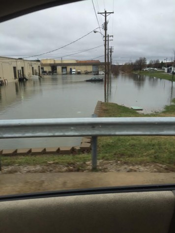 Flooding in Chesterfield Valley