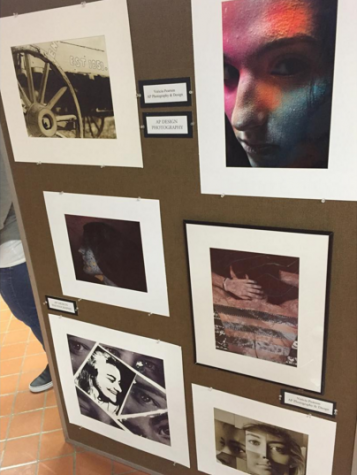Vericia Pearson's AP Photo and DIgital Design board for the 2016 regional art show.