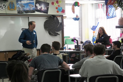 Guest speaker Timothy Brown visits astronomy classes