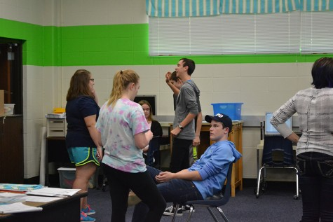 Students pick roles for an upcoming Fun-Size film.