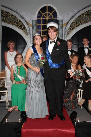 Tristan Johnson and Mariel McMindes are crowned Prom king and queen.
