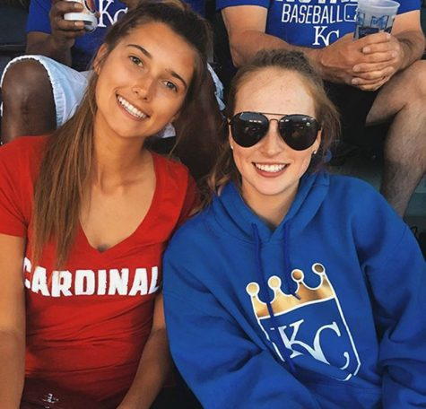 juniors Kaleigh Riggs and Hope Sanford take a selfie at the Royals game.