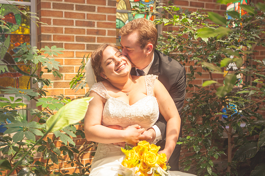 Jessica and Andrew at their wedding May 28, 2016.