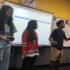 Junior Cheryl Ma and sophomore Gokul Venkatachalam prepare for FBLA Nationals