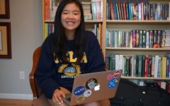 Senior Cheryl Ma seeks support for her essay in the Celebrating Student Voices contest